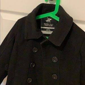 Kid's Black Pea Coat